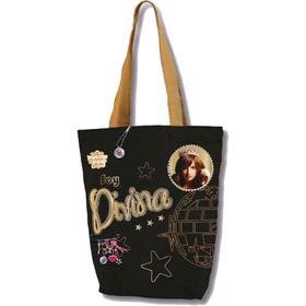 Bolso shopping negro, Soy Divina The Best-Patito Feo- 31x30 cm