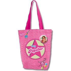 Bolso shopping estrella Soy Popular- Patito Feo- 31x30 cm