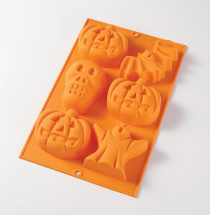 Molde Halloween de 6 cavidades