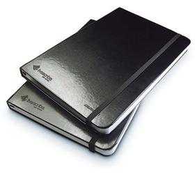 Pack 2 Libretas de Cuero A5-Modelo 1-2 de color Negro-No rayado