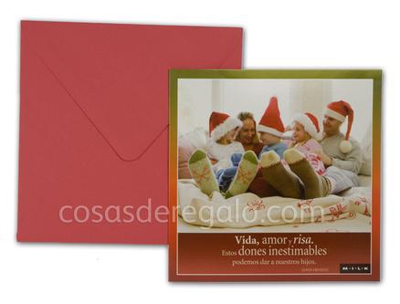 Felicitación de navidad MILK Vida, amor y risa...