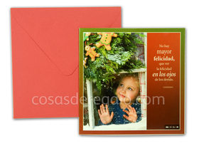 Felicitación de navidad MILK No hay mayor felicidad, que ver la felicidad en los ojos de los demás...