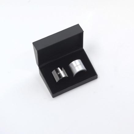 Duo aro metálico antigoteo (negro y satinado) wa-140