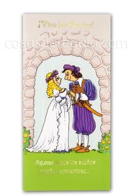 Billetero de boda anillos pareja en el arco