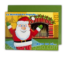 Felicitación de Navidad con luz y sonido La Navidad ha llegado
