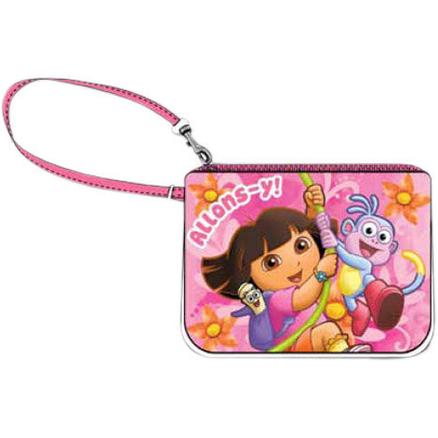 Monedero portatodo rosa de Dora y Botas