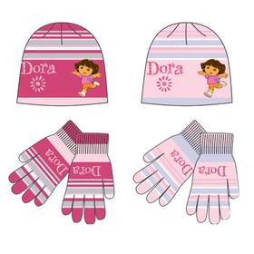 Conjunto gorro y guantes rayas Dora la exploradora