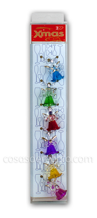 Marca vasos Navidad con forma de angel (6 unidades)