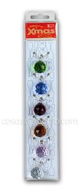 Marca vasos Navidad con forma de bolas de cristal (6 unidades)