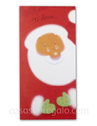 Billetero de Navidad de Papa Noel