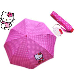 Paraguas plegable con monedero Hello Kitty