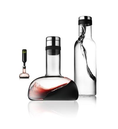 Juego botella agua 1L y aireador-decantador vino