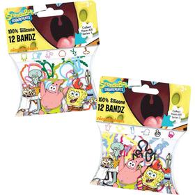 Bolsa con 12 pulseras surtidas forma Bob esponja
