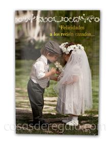 Felicitación Musical de boda de Anne Geddes novios pequeños