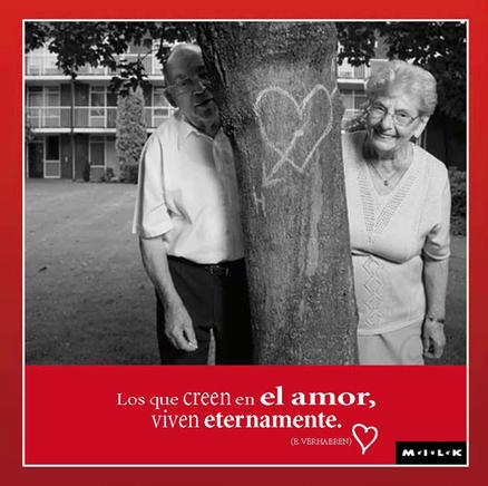 Felicitación MILK de amor - Los que creen en el amor...