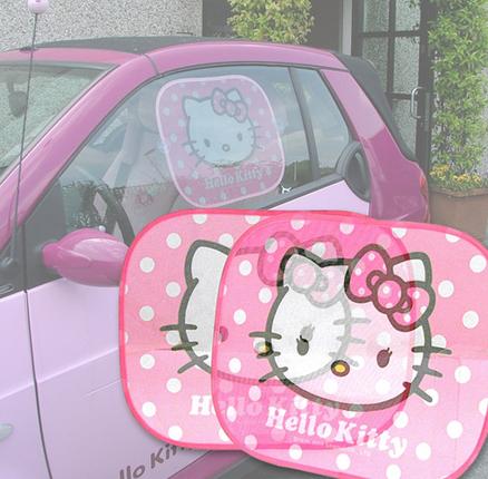 Parasol Hello Kitty para las ventanillas del coche