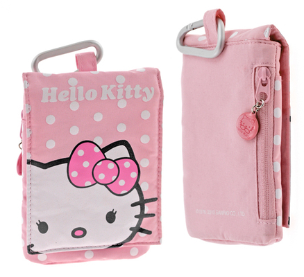 Estuche multifunción Hello Kitty de color Rosa