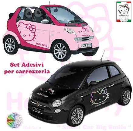 Adhesivos para el coche de la Hello Kitty