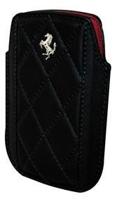Funda Ferrari Blackberry maranello negra Vertical Piel