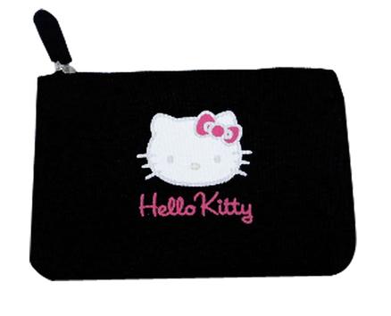 Funda Hello Kitty horizontal negra 150X100mm