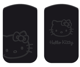 Funda Hello Kitty Nabuk L negra 115X62X15 mm