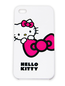 Carcasa iPhone 4 Hello Kitty blanca