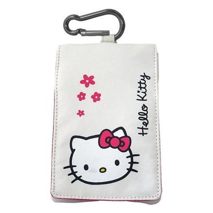 Funda Hello Kitty solapa blanca 110X65mm
