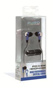 Auricular estéreo azul crystal sound (Jack 3, 5mm)