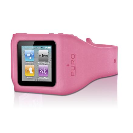 Funda muñequera iPod 6 rosa silicona