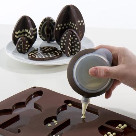 Molde de huevo y conejito de Pascua 3D