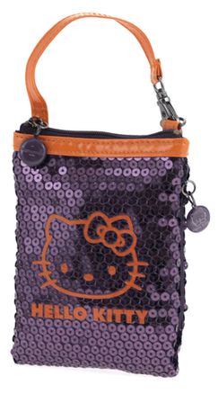 Bolsita Hello Kitty lila y naranja