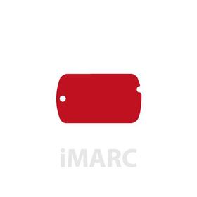 Placa grabada militar 5x3cm de aluminio de color rojo