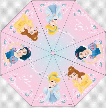 Paraguas automático 48 cm Princesas