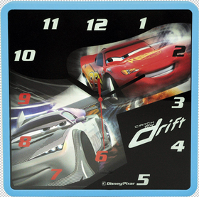 Reloj de pared Cars 25x25 cm