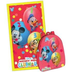 Mochila con toalla Mickey, Donald, Goofy
