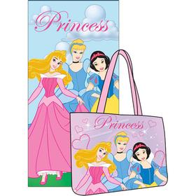 Toalla y bolsa playa Princesas Disney