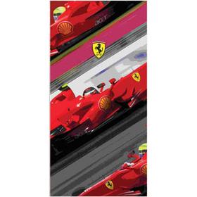 Toalla Ferrari F1 3 coches lateral 80x160cm