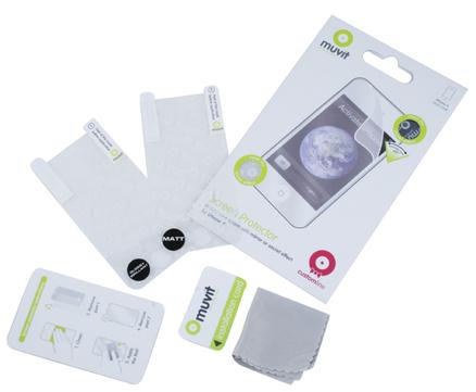 Set de dos protectores de pantalla para iPhone 4G Muvit