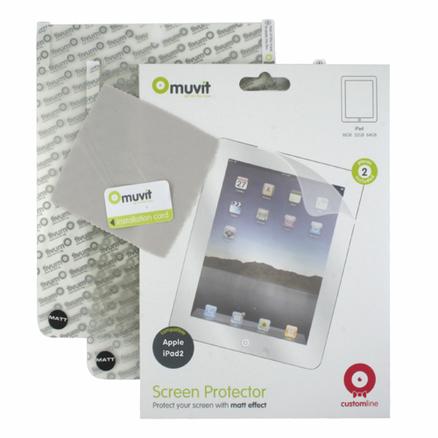 Set de dos protectores de pantalla para iPad 2 Muvit