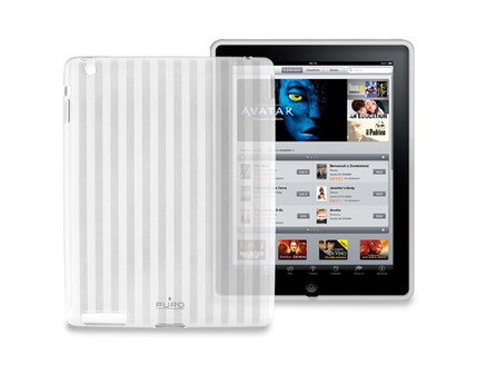 Funda mini gel para iPad 2 transparente a rayas