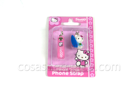 Colgante para el móvil Hello Kitty azul surfista