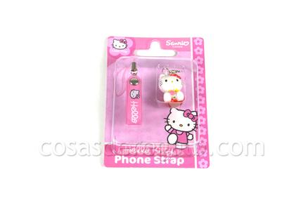 Colgante para el móvil Hello Kitty rojo sentada