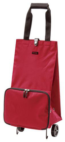 Carro de la compra plegable Foldable Trolley de color rojo