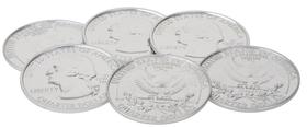 Posavasos (6 unidades) USD de metal