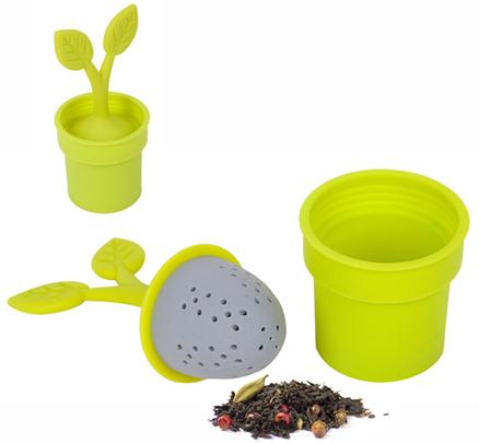 Infusor té Flower Pot lima silicona