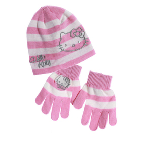 Gorro y guantes Hello Kitty
