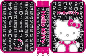 Plumier doble caritas Hello Kitty de color negro