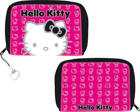 Monedero caritas Hello Kitty de color negro
