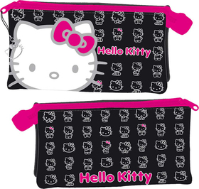 Portatodo caritas Hello Kitty de color negro