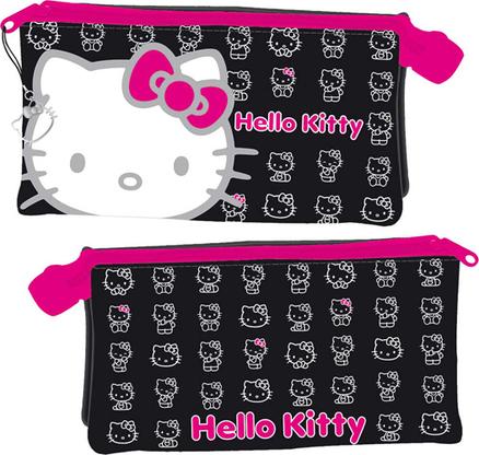 Portatodo caritas Hello Kitty de color negro